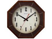 Bulova C4376 Gymnasium Large Solid Hardwood Case White Dial Brown Wall Clock