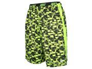 Nike Men's Dri-Fit Fly Digital Rush Training Shorts-Volt/Black-Large