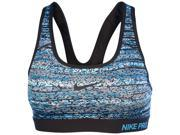 Nike Women's Printed Pro Classic Padded Sports Bra-Blue/Black-XL 9SIA7XJ4VA1404