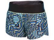 "Nike Women's Dri-Fit Printed 4"""" Rival Running Shorts-Green/Blue/Black-XL"" 9SIA7XJ53W9777"