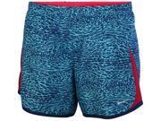 Nike Big Girls' (7-16) Dri-Fit 5K Printed Running Shorts-Light Blue-Small 9SIA7XJ5799647