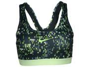 Nike Women's Dri-Fit Pro Classic Padded Training Sports Bra-Dark Green/Yellow-Large 9SIA7XJ5RN9514