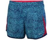 Nike Big Girls' (7-16) Dri-Fit 5K Printed Running Shorts-Light Blue-XL 9SIA7XJ5704974