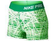 "Nike Women's Dri-Fit Pro Cool 3"""" Training Shorts-Green-XS"" 9SIA7XJ5VT7167"