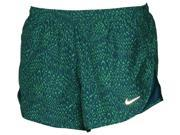 Nike Women's Dri-Fit Allover Print Tempo Running Shorts-Green-Large 9SIA7XJ6JW1050