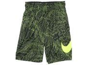 Nike Big Boys' (8-20) Dri-Fit Fly Training Shorts-Black/Volt-Large 9SIA7XJ6MF2071
