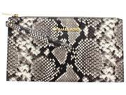 Michael Kors Bedford Women's Large Embossed Leather Zip Wristlet