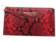 Michael Kors Bedford Women's Large Embossed Leather Zip Wristlet