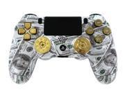 Money Talks w ShotGun Thumbsticks and Real Gold 9 mm Bullet Buttons PS4 Custom Modded Controller