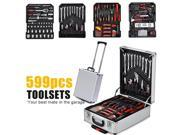 599 Piece Mechanics Tool Set- Mechanic Kit Case Storage Tool Organizer Set - 599 Pcs