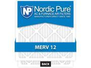 Nordic Pure 20x25x1 MERV 12 AC Furnace Air Filters Qty 6
