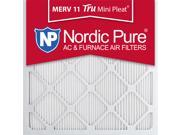 Nordic Pure 20x20x1 Tru Mini Pleat MERV 11 AC Furnace Air Filters Qty 3 9SIA7ZD2VG1318