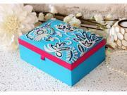 Mothers Day Gift Hand Embroidery Jewelry Organizer Multi Purpose Storage Box with Paisley Print 9SIA7ZK2U42859