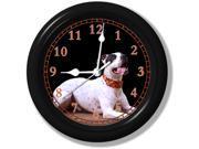 Dalmatian Pit Mix • Pit Bull Wall Clock • Pet Decor • Silent • Sweeping Quartz Movement • 9 Inches