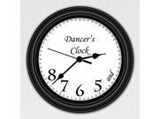 Dancer's Clock • Unique Wall Clock • Dancing Decor • Silent • Sweeping Quartz Movement • 9 Inches