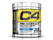 Cellucor C4 Pre Workout Supplement, Creatine Nitrate, Nitric Oxide, Beta Alanine & Energy, 30 Servings, Icy Blue Razz,G4