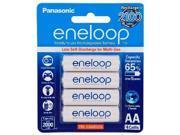 Genuine Panasonic Eneloop 2000mAh x 4 AA Rechargeable Batteries 2100 Cycle