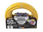 Cord Ext 12Awg 3C 50Ft 15A Yel Power Zone Extension Cords ORP511830 054732808762