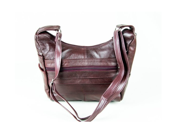 Wine Colored Cowhide Leather Handbag