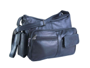 Soft Luxurious Leather Navy Blue Shoulder bag