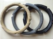 Costly Car Steering Wheel Covers High-Quality PU Leather Hand Sewing Breathability Non-slip Automobile Steering Wheel Covers