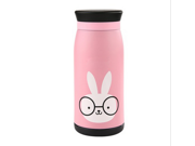 Portable Vacuum Cup for Outdoor Travel Office Salaryman Students Pot-bellied Shaped Stainless Steel Water Bottle 500ML 6 Colors 9SIA82V36V9662