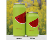Portable Stainless Steel Vacuum Cup Baby Kids Straw Cup Cans Shaped Fashion Business Vacuum Thermal Warm Travel Cup Bottle (350 ml, watermelon) 9SIA82V36W1124