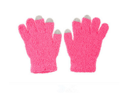 Microfiber Touch Screen Gloves 19.5*11cm Knit Polyester Magic Open Screen Keep Warm Full Finger Gloves