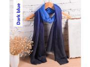 Compelling Women's Gradient Color Scarf 180*100CM Cotton+Linen Clothing Accessories  Art Women Shawl/Rebozo & Long Scarf
