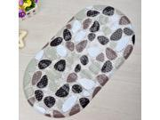 Sporty Non-slip Mat 38*70CM Oval High Quality PVC Bath Mat Vogue Bathroom Non-slip & Massage Mat 9SIA82V3NZ1218