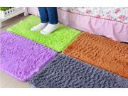 Compelling Anti skid Mat 2 Sizes Solid Color Washable Coral Fleece Rugs Mats Classic Living Room Dining Room Bedroom Mats