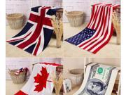 Thicken Pure Cotton Bath Towel 70*140CM National Flag Euro Pattern Towel Bibulous Oversize Beach Towel