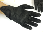 Men's Black Premium Leather Street Motorcycle Riding Gloves Pursuit Stealth L 9SIA85G6DW4337