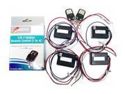 Logisys Computer RM014 12VDC 4 Station Remote Control Kit 2 Remotes 4 Stations
