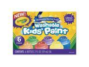 Crayola 6-color Glitter Washable Kids Paint 9B-2UB-004T-00022