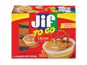 Jif To Go Snack Cups 1.5 oz 8/PK Peanut Butter 9SIADUP5U95655