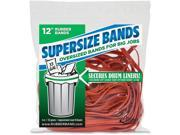 """Image of Supersize Bands 12"""" 18/PK Red"""
