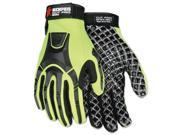Cut Pro MC500 Gloves High Vis Lime Black 2X Large MC500XXL