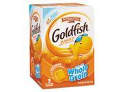 Goldfish Crackers Baked Cheddar 19 oz Resealable Bag 3 Bag Box