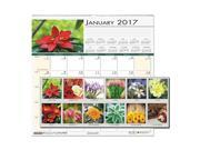 Recycled Floral Monthly Wall Calendar, 12 x 12, 2017 326 9SIA86E4ZT4524
