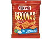 Cheez it Grooves Crackers Zesty Ranch 3.25 Bag 6 Box