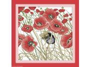Counted Cross Stitch Kit Embroidery Set Poppies and Mouse 35*35cm Home Decor DIY 9SIA86V3207787