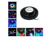 Foxnovo Novelty Sunflower Shaped Voice-Activated /Auto Rotating 48-LED RGB Light LED Party Light (Black) 9SIA86X3HP2020