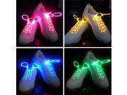 Foxnovo LED Flashing Shining Shoelaces - 4 pair/set (Blue & Green & Pink & Yellow)