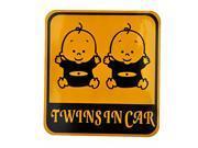 Foxnovo Baby Twins in Car Design Reflective Car Sticker Car Decal 11.5cm*12.5cm