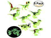 Foxnovo 8pcs Jurassic World Park Mini Dinosaur Models Dinosaur Minifigures Movable Toys 9SIA86X53E0417