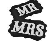 Foxnovo Pair of Mr and Mrs Photo Props, Mr and Mrs Chair Signs, Wedding Decorations, Bride and Groom Signs, Photo Booth Signs, Unique Wedding Decor 9SIA86X3DK6415