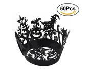 50pcs Halloween Lace Cut Cupcake Wrapper Liner Baking Cup Muffin Case Trays Wedding Birthday Party Decoration (W77) 9SIA86X6DP7640