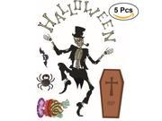 5pcs Zombie Wall Decal PVC Sticker Halloween Horror Wall Decor Cool Creative Living Room Bedroom Wall Decor Mural 9SIA86X6DP7615