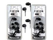 Panasonic RP-HJE120 ErgoFit In-Ear Headphones Stereo Earbuds (2-Pack, Black)